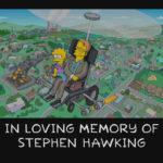 Rinden homenaje a Stephen Hawking en Los Simpson